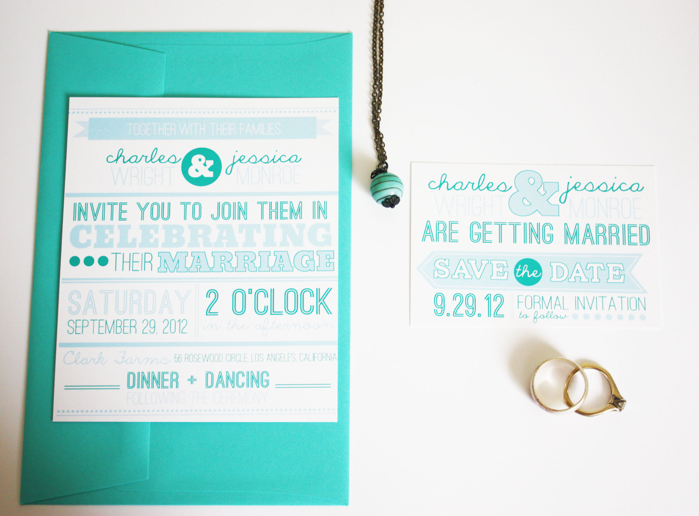Wedding Announcement And Save The Date Invitations Customizable ...